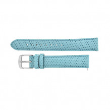 MICHELE Light Blue Perforated Leather Strap - MS16FM060952