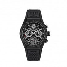 TAG Heuer Carrera Calibre Heuer 02T Automatic Black Steel & Titanium 45mm Watch - CAR5A8W.FT6071