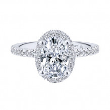 Gabriel & Co 18k White Gold Diamond Engagement Ring - ER12907O6W83JJ