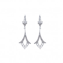 14k White Gold Gabriel & Co. Diamond Drop Earrings - EG12578W45JJ