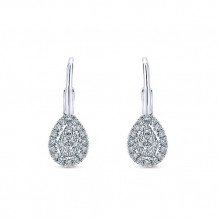 14k White Gold Gabriel & Co. Diamond Drop Earrings - EG12728W45JJ