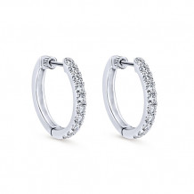 14k White Gold Gabriel & Co. Diamond Hoop Earrings - EG10848W45JJ