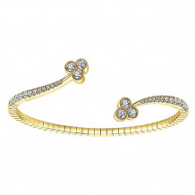 14k Yellow Gold Gabriel & Co. Diamond Bangle Bracelet - BG3983Y45JJ