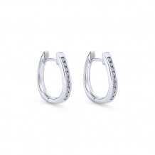 14k White Gold Gabriel & Co. Diamond Huggie Earrings - EG292W45JJ