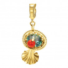 Gabriel 14K Yellow Gold Treasure Chests Multi Color Pendant PT907Y44MC - PT907Y44MC