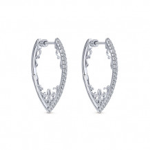 14k White Gold Gabriel & Co. Diamond Hoop Earrings - EG12079W45JJ