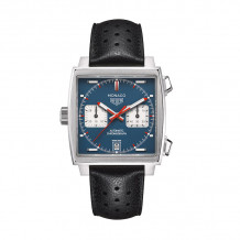 TAG Heuer Monaco Calibre 11 Automatic Steel 39mm Watch - CAW211P.FC6356