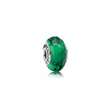 Sterling Silver Murano Glass Fascinating Green Charm