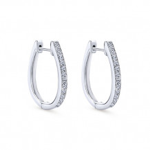 14k White Gold Gabriel & Co. Diamond Huggie Earrings - EG10912W45JJ