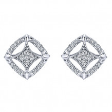 14k White Gold Gabriel & Co. Diamond Stud Earrings - EG12659W45JJ