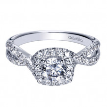 Gabriel & Co. 14k White Gold Round Halo Engagement Ring - ER8662W44JJ
