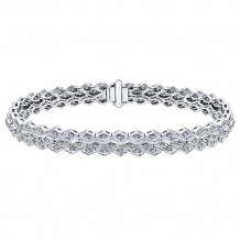 14k White Gold Gabriel & Co. Diamond Tennis Bracelet - TB2265W45JJ