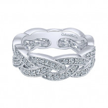 Gabriel & Co. 14k White Gold Diamond Stackable Ladies' Ring - LR5673W45JJ