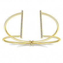 14k Yellow Gold Gabriel & Co. Diamond Bangle Bracelet - BG4000Y45JJ