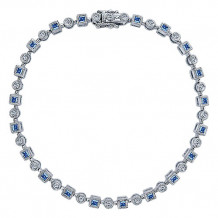 14k White Gold Gabriel & Co. Diamond And Sapphire Tennis Bracelet - TB2353W45SA
