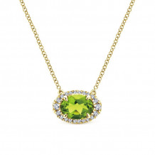 Gabriel 14K Yellow Gold Lusso Color Peridot Necklace NK5312Y45PE - NK5312Y45PE