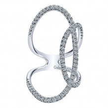 14k White Gold Gabriel & Co. Diamond Fashion Ring - LR50650W45JJ