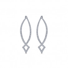 14k White Gold Gabriel & Co. Diamond Hoop Earrings - EG12900W45JJ