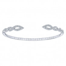 14k White Gold Gabriel & Co. Diamond Bangle Bracelet - BG3915W45JJJ
