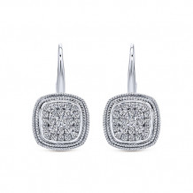 14k White Gold Gabriel & Co. Diamond Drop Earrings - EG12471W45JJ