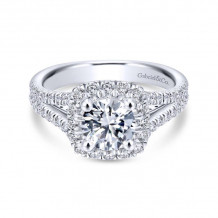 Gabriel & Co 14k White Gold Perennial Diamond Engagement Ring - ER12611R4W44JJ