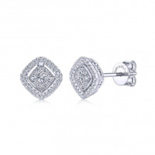 14k White Gold Gabriel & Co. Diamond Stud Earrings - EG12278W45JJ