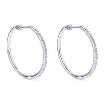 14k White Gold Gabriel & Co. Diamond Hoop Earrings - EG11020W44JJ