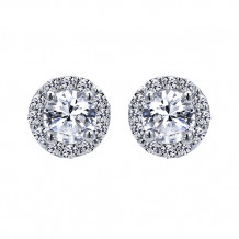 14k White Gold Gabriel & Co. Diamond Stud Earrings - EG10416W44JJ