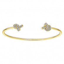 14k Yellow Gold Gabriel & Co. Diamond Bangle Bracelet - BG4003Y45JJ