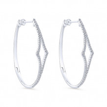 14k White Gold Gabriel & Co. Diamond Hoop Earrings - EG13176W45JJ