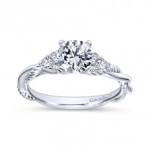 Gabriel & Co 14k White Gold Round Twisted Engagement Ring - ER8817W44JJ