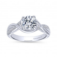Gabriel & Co Round Criss Cross Twisted Engagement Ring - ER10315W44JJ