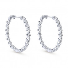 14k White Gold Gabriel & Co. Diamond Hoop Earrings - EG10316W44JJ