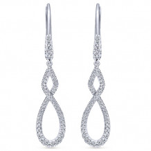 14k White Gold Gabriel & Co. Diamond Drop Earrings - EG12194W45JJ