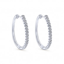 14k White Gold Gabriel & Co. Diamond Hoop Earrings - EG10239W45JJ