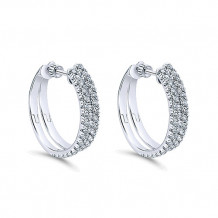 14k White Gold Gabriel & Co. Diamond Hoop Earrings - EG12602W45JJ