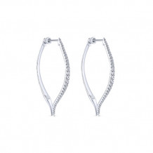 14k White Gold Gabriel & Co. Classic Diamond Hoop Earrings - EG13175W45JJJ
