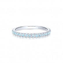 Gabriel & Co. 14k White Gold Sky Blue Topaz Stackable Ring - LR50889W4JLB