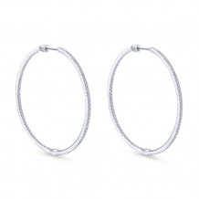 14k White Gold Gabriel & Co. Diamond Hoop Earrings - EG10395W45JJ