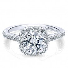 Gabriel & Co 14k White Gold Round Halo Engagement Ring - ER12664R4W44JJ