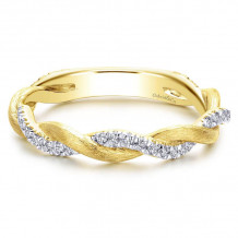 Gabriel & Co. 14k Yellow Gold Diamond Stackable Ladies' Ring - LR50886Y45JJ