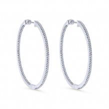 14k White Gold Gabriel & Co. Diamond Hoop Earrings - EG10406W45JJ