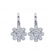 14k White Gold Gabriel & Co. Diamond Drop Earrings - EG11049W45JJ