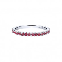 Gabriel & Co. 14k White Gold Ruby Stackable Ring - LR50889W4JRB
